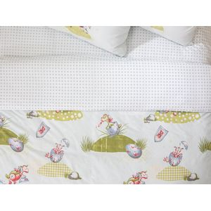 Lovely Dragon Cottony For One Person KIDS DUVET COVER 160x220 cm Green